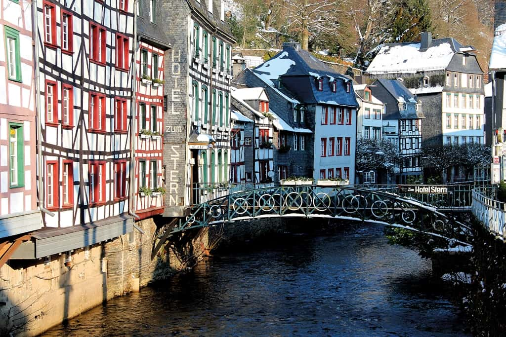 Mittelalterliches Monschau: zu jeder Jahreszeit eine Reise wert