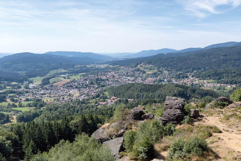 Blick vom Silberberg auf Bodenmais, Foto: Avda