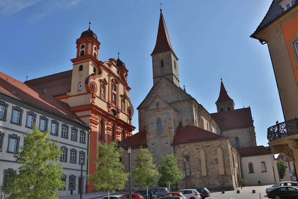 Ellwangen - Marktplatz Basilika ev. Kirche