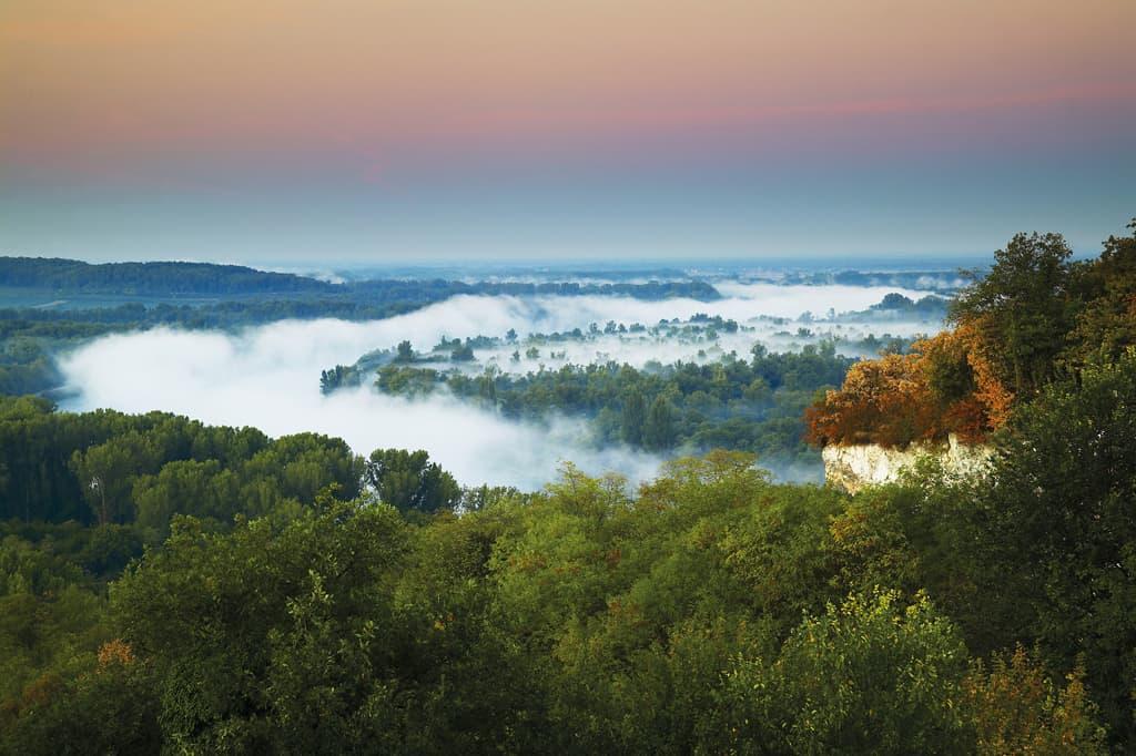 Rheinauen beim Kaiserstuhl, Morgenstimmung. Foto: Erich Spiegelhalter, Schwarzwald Tourismus