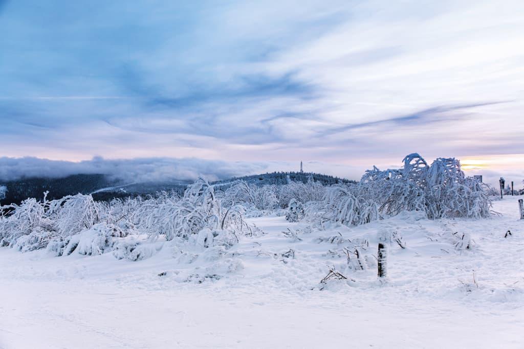 Winterlandschaft Erzgebirge, Fichtelberg / Foto: TVE Bernd März
